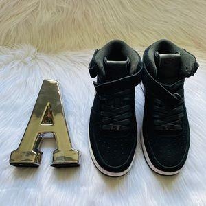 Nike Air Force 1  high top- Black Sude